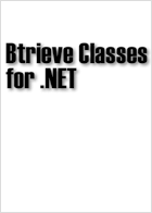 Btrieve Classes for .NET V8.0.0